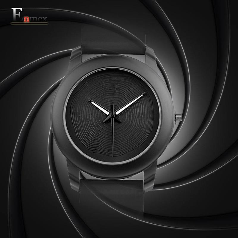 Present Enmex kreativ stil dam armbandsur silver 3D vortex ansikte - Damklockor - Foto 6