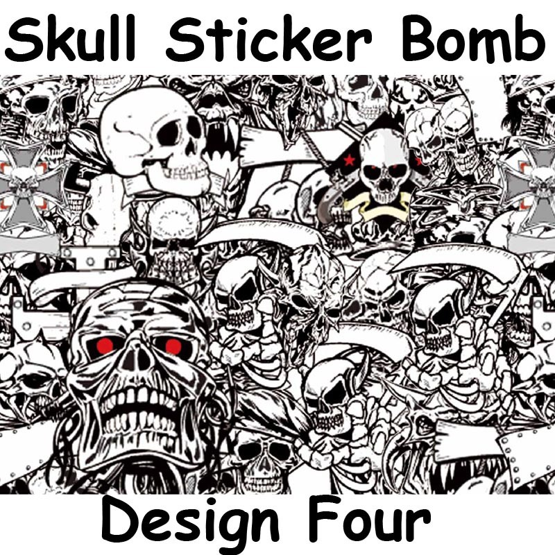 Skull Heads STICKERBOMB Vinyl WRAP Air Bubble Free Sticker Bomb Graffiti Art Decal Graphics 152x30m Roll In Car Stickers From Automobiles