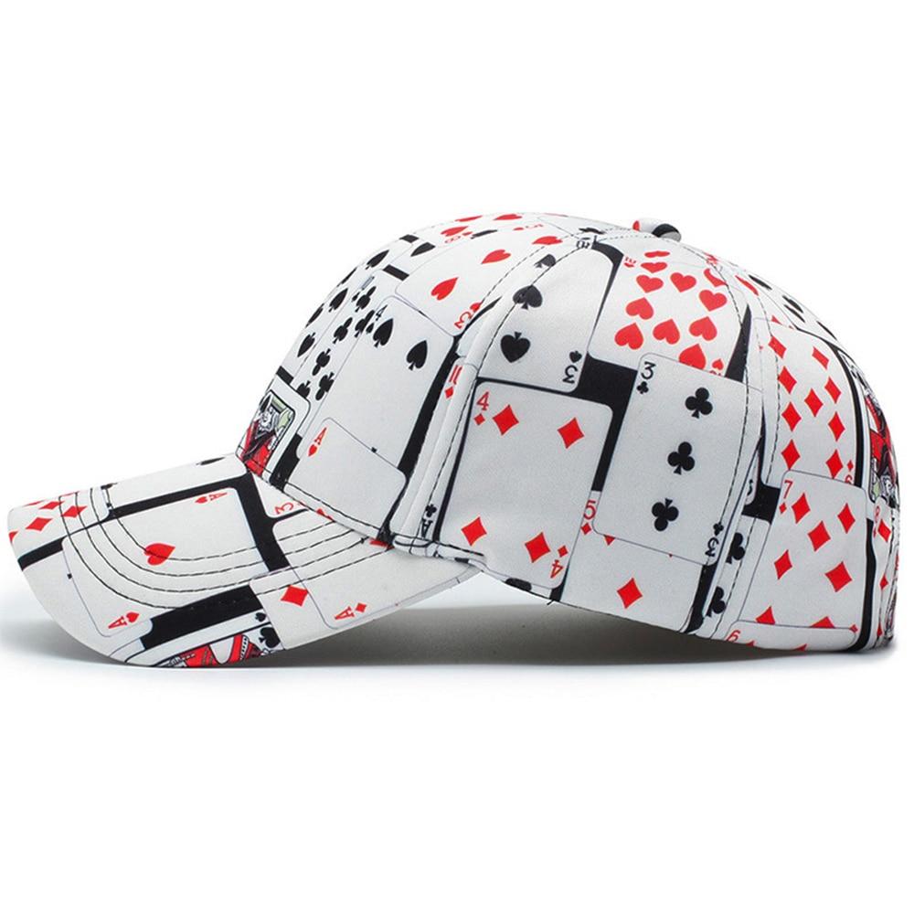 Details about Mens Baseball Cap Cotton Poker Print Ball Dad Trucker Caps For Adult Women Men