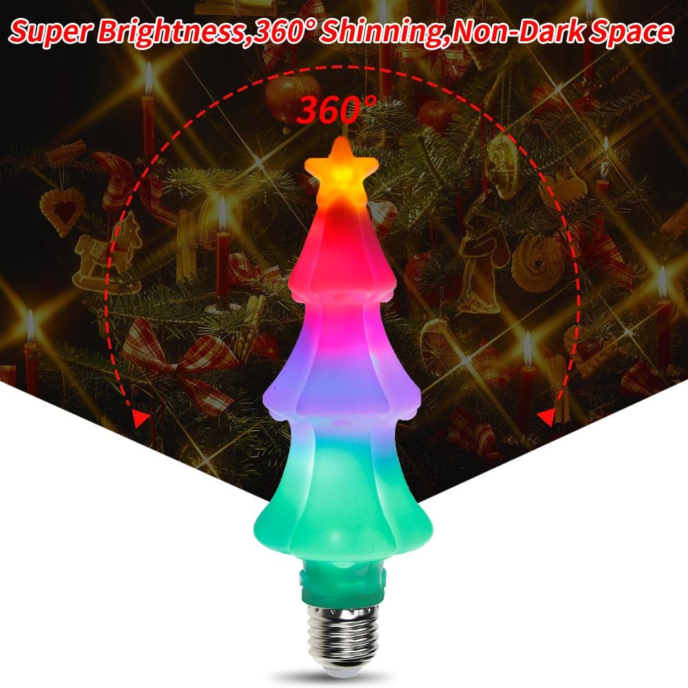 E27 LED Christmas Decoration Lights E26 LED 3W Christmas Tree Colorful Flame Lamp 220V Flickering Fairy Novelty Light Bulbs 110V in Holiday Lighting from Lights Lighting