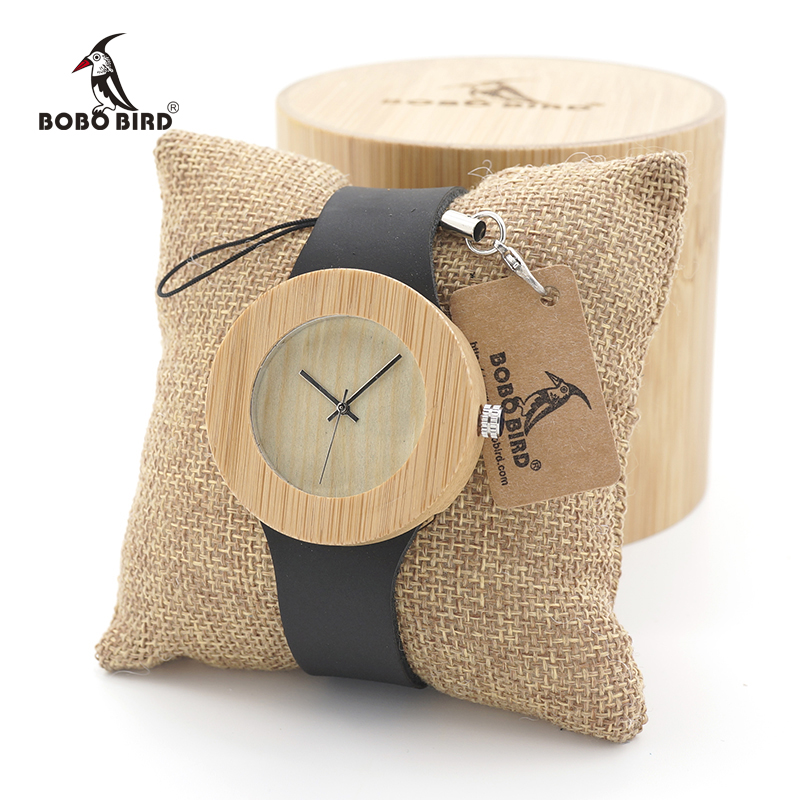 Montre Femme BOBO BIRD Women Watches Quartz Wooden With Leather Strap Sport Quartz Design Ladies Wristwatch Custom Logo
