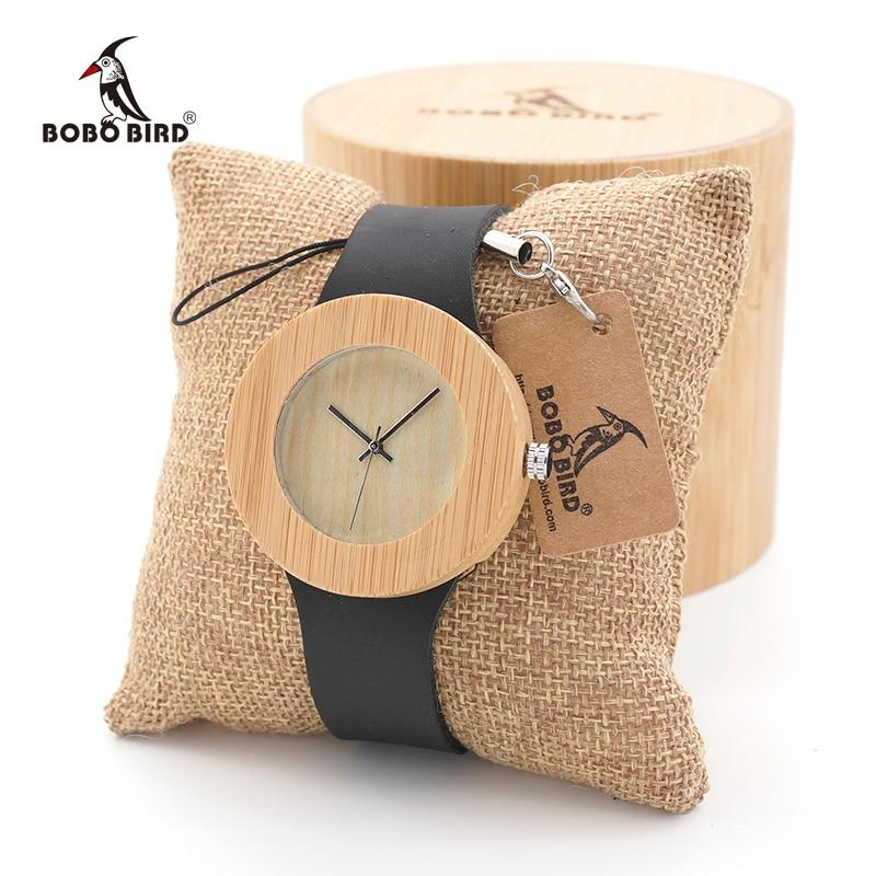 Montre Femme BOBO BIRD Women Watches Quartz Wooden With Leather Strap Sport Quartz Design Ladies Wristwatch Custom Logo
