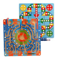 2 in 1 Wooden Puzzles Magnetic Pen Maze Children Educational Toys for Boys Girls Intellectual Jigsaw Board Funny Kids Games