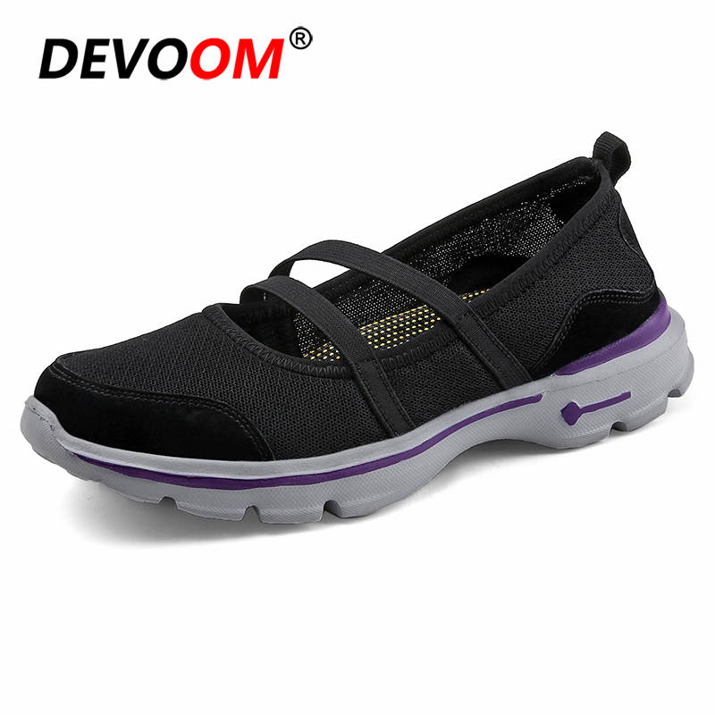 Fashion Doubled Instep Mary Jane Strap Flat Shoes <font><b>Women</b></font> Equalizer Slip-on Sneakers Ladies Light Non-Slip Nurse Sneaker 2018 New image