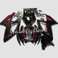 Red Flame Painted Fairings Fit for Motorcycle SUZUKI GSXR 600 / 750 K6 2006 2007