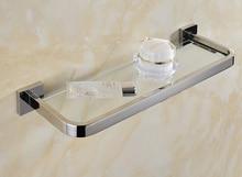 Edelstahl 304 bad glas regal rack bad dusche halter bad korb dusche saug wandregal