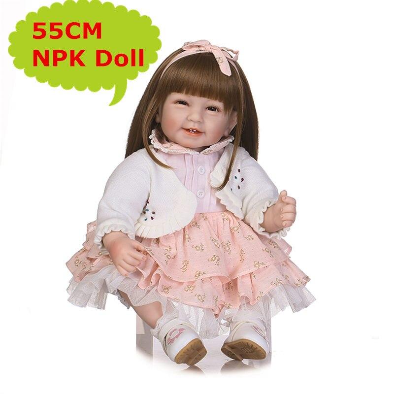 Special Clothes NPK 55cm 22inch Reborn Toddler Dolls Lifelike Reborn Baby Girl Dolls Best Bebe Reborn