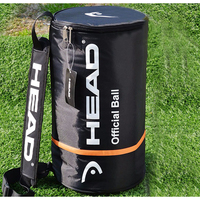 Head Tennis Bag Single Shoulder Tennis Racket Bags Large Capacity For 100pcs Balls Outdoor Sports Training Accessories