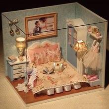 Деревянный Кукольный дом мебель diy 3d миниатюрный сборный кукольный