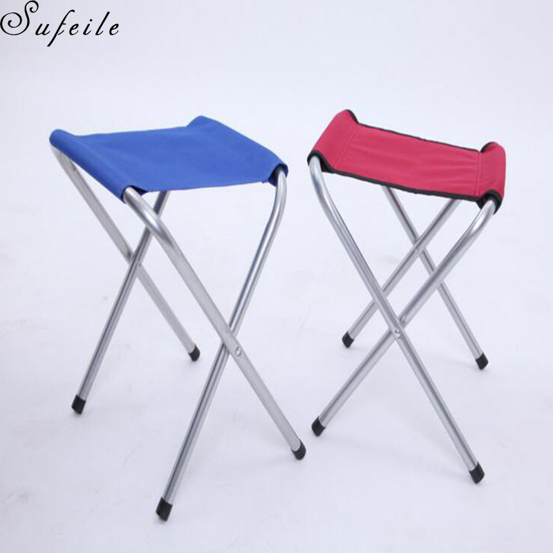 SUFEILE Outdoor Camping Portable Folding Chair Beach Folding Aluminum Alloy Stool Stove Stall High-end Leisure Chair D5 new arrival high quality folding fold aluminum chair outdoor stool seat for fishing for camping