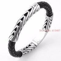 Nieuwe Fashion Rvs Magnetische Lederen armbanden en armbanden voor Vrouwen Mannen Handgemaakte Vriendschap Sieraden Gift