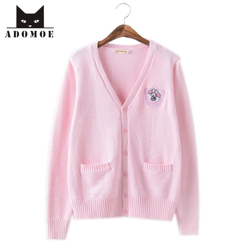 XS-XL Autumn Women's Sweater Knitwear Pink Soft Sister Lovely Cute Cartoon Japanese Korea JK Teens Girls Sweet Sweater Cardigans