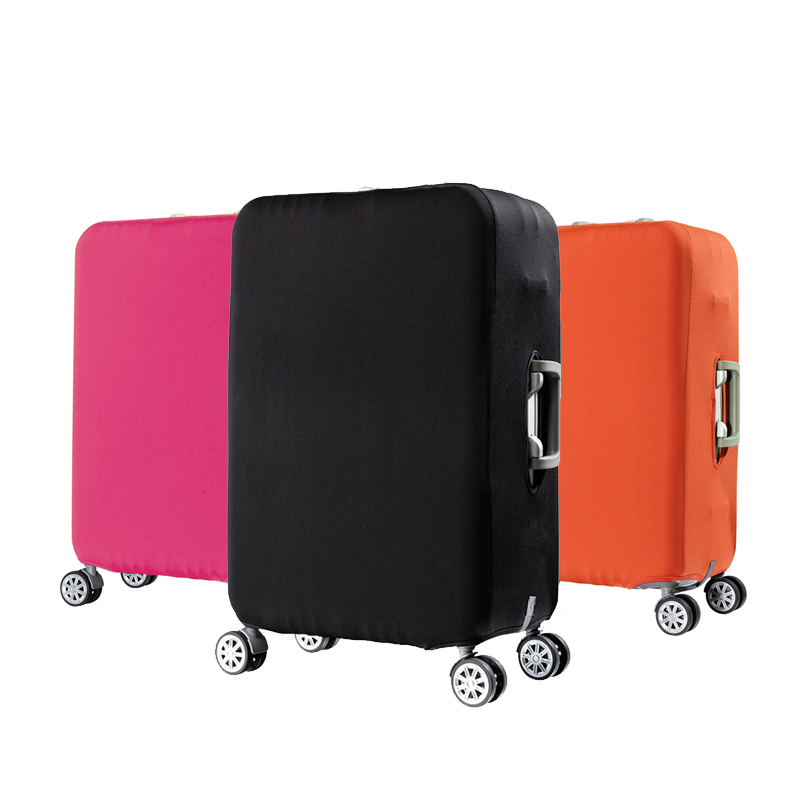 Travel elastic luggage cover protector Stretch fabric zipper suitcase protective covers Travel accessories case for luggageTravel elastic luggage cover protector Stretch fabric zipper suitcase protective covers Travel accessories case for luggage