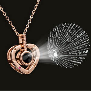 Heart Shape Letter Necklace Wo