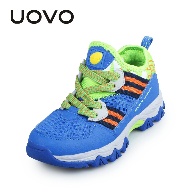 UOVO Breathable Slip-on Children Shoes Boys Sneakers Trendy Kids Shoes for Boys Loafers Children Footwear Mesh Shoes Trainers joyyou brand kids shoes boys girls school sneakers children teenage footwear baby slip on canvas toddler for child fashion shoes