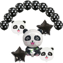 15pcs/lot 18 inch star China Panda Foil Balloons 2.8g latex ballon Childrens Inflatable Toys Birthday Party Decor Kids Globos