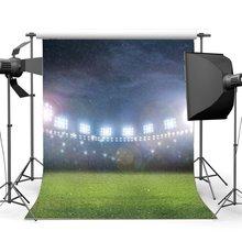 Campo de futebol Fundo Indoor Stadium Luzes Do Palco Chovendo Fotografia Fundo Bokeh Glitter Lantejoulas Jogo de Esportes Da Escola