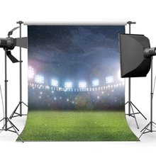 Football Field Backdrop Indoor Stadium Stage Lights Raining Bokeh Glitter Sequins Sports Match School Photography Background