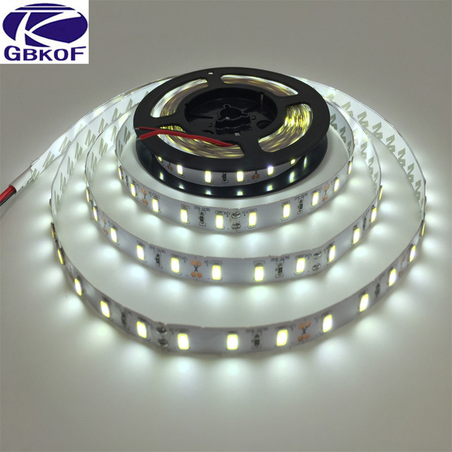 5 meters Super Bright SMD 5630 LED strip flexible light 12V Non waterproof Fita 3M tape diodes lamp Christmas Lampada White