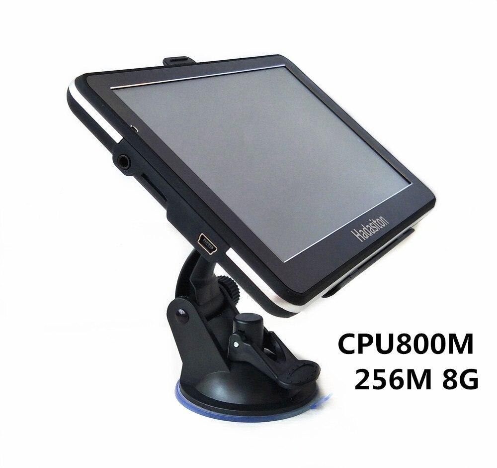 7 INCH SAT NAV HD CAR GPS NAVIGATION CPU 800M 256M/8GB + Bluetooth AV-IN + FM Transmitter+ Free latest maps
