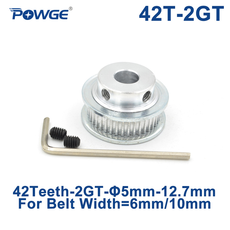 14 10 6.35 GT2 Timing Pulley 100T 12 Width 6mm 8 Bore 5 12.7 6 20mm
