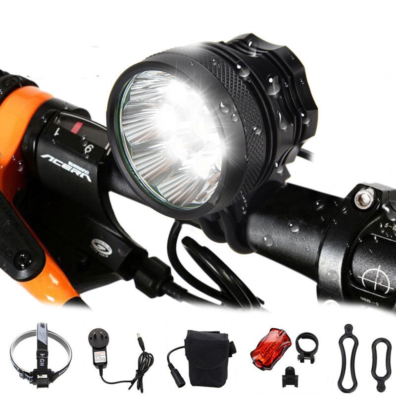 T6 LED Bicycle Head Lamp Universal Bike Front Light 3 Working Modes 9800LM Super Bright MTB Headlamp Torch for Night Cycling|Bicycle Light| |  - title=