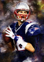 WOW Tom Brady The New England Patriots Quarterback Football 100 Hand Painted TOP Art OIL Painting