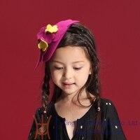 2014 Fashion Wool Flower Headwear Accessories Soft Elastic Headband Hair Bands For Baby Kids Girls Children