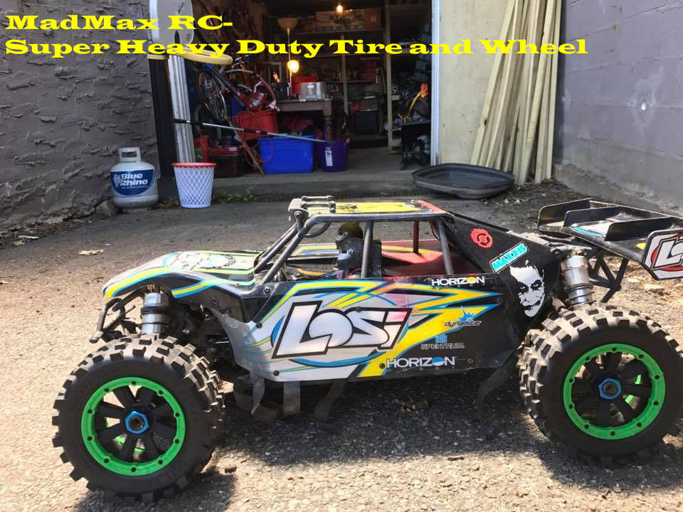 MadMax Giant Grip Wheel Sets For Losi DBXL and Losi DBXL-E Losi Desert Buggy do not include the rc car gmd losi dbxl shcok dust cover pull starter cover air filter cover for 1 5 losi dbxl gas engine zenoah cy rc cars