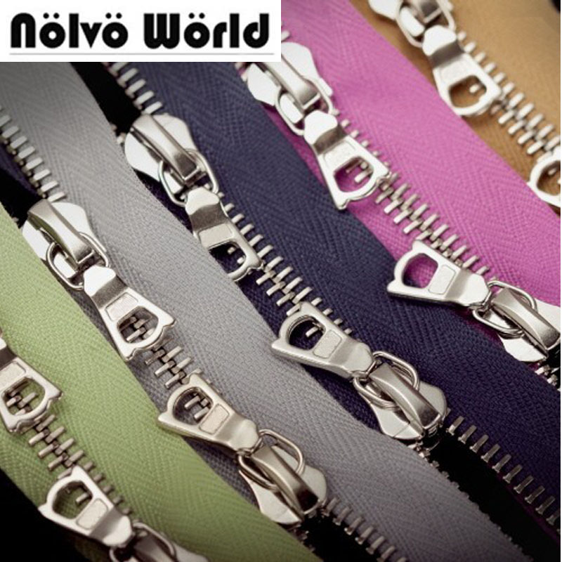 15 yards 63 kinds colors 5 two way customize color DIY metal zipper accessories for bags