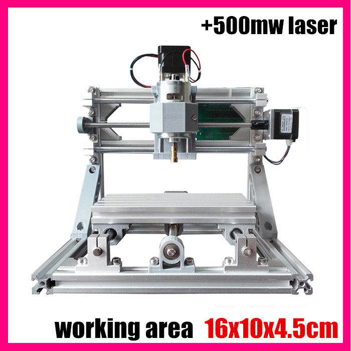 GRBL control Diy 1610 mini CNC laser engraving machine,working area 16x10x4.5cm,3 Axis pcb pvc Milling machine +500mw laser 1610 mini cnc machine working area 16x10x3cm 3 axis pcb milling machine wood router cnc router for engraving machine