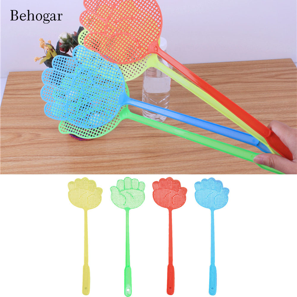 Behogar 10PCS Plastic Pest Control Mosquito Bug Hand Pattern Fly Swatter Flyswatter Killer Tools Pest Insect Swatters