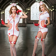 Women Sexy Erotic Lingerie Porno Costumes Cosplay Hot Nurse Costume Babydoll Dress