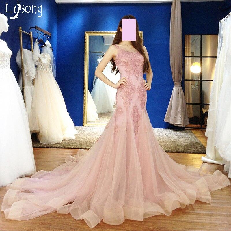 Detail Feedback Questions about Dusty Pink Appliques Sheath Mermaid Puffy  Hemline Evening Dress Custom Made Women Formal Occasion Maxi Gown Elegant  Long ... ba15e2ff63f7