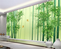 Senior Fresh Bamboo Forest Green Simple Modern Chinese Wind High Definition TV Bedroom Living Room Background