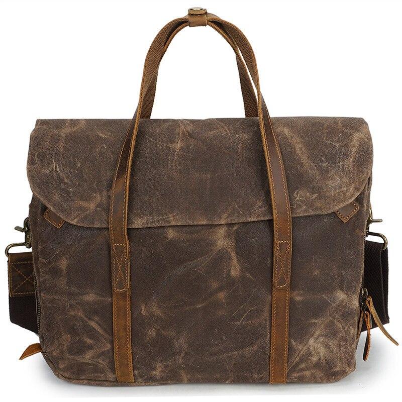 Nesitu высокое качество Винтаж Армейский зеленый серый Кофе холст Для женщин Для мужчин Портфели портфель Курьерские сумки M3285