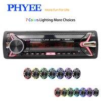 Detachable Car Radio Bluetooth Autoradio USB 1 Din Stereo Audio MP3 SD FM Tuner High Power Head Unit PHYEE 4875BT