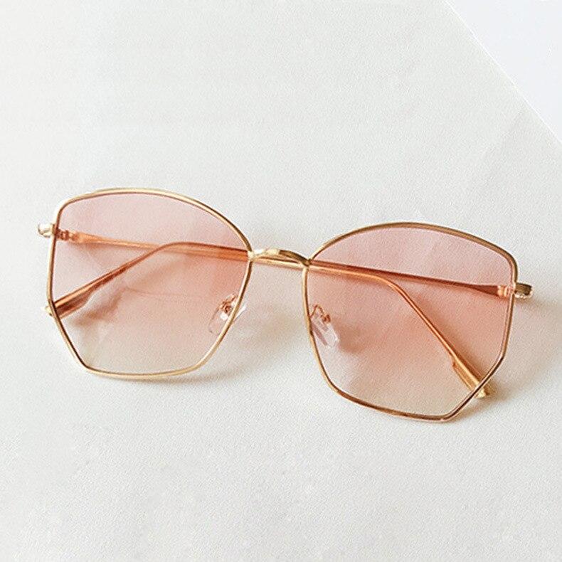 Lrregular Sonnenbrille Frauen 2020 Mode Metall Klar ozean objektiv Retro Sun glasse UV400 vintage Übergroßen Sonnenbrille okulary