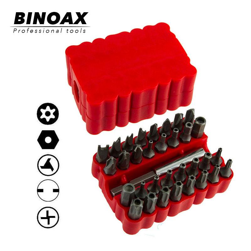 BINOAX Security Tamper Proof Bit Set 33pc Torq Torx Hex Star Spanner Tri Wing Screwdriv Magnetic Holder