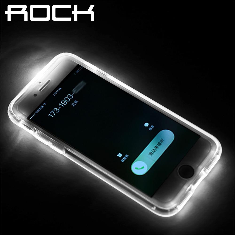 Case for iPhone 7 7 plus ,ROCK Original Brand Led Flash Light Calling Notice Tube Series Phone Case For iPhone 7/7 Plus Cover