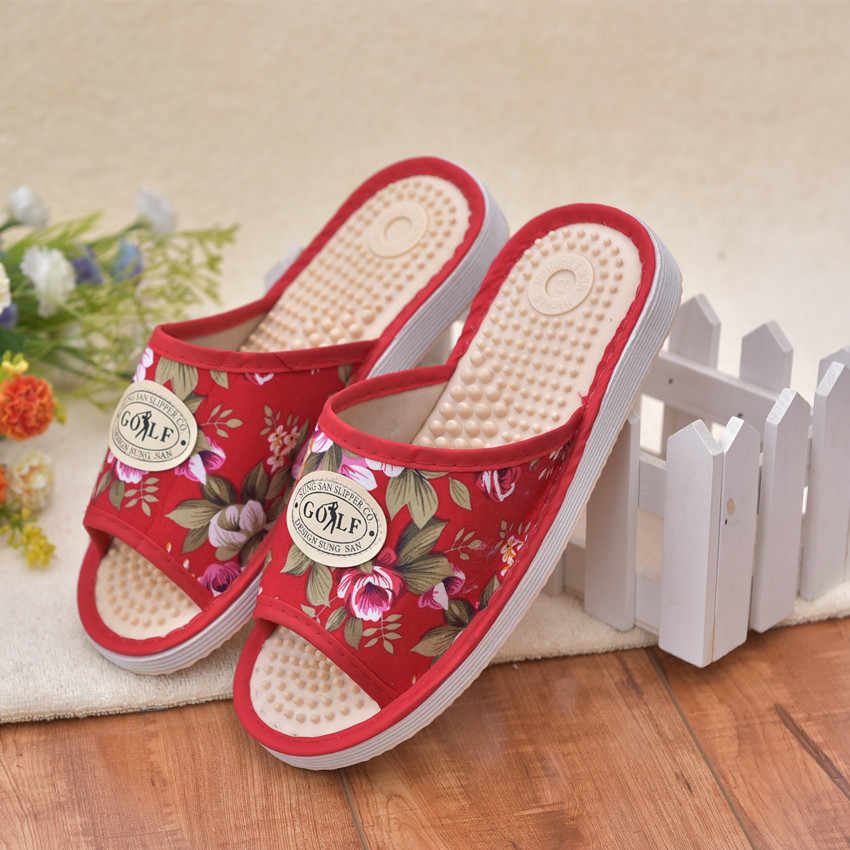 5ba69432131e 2018 Anyone Care Health Slipper Indoor Home Acupressure Female Casual  Sandals Women s Foot Massage Slippers