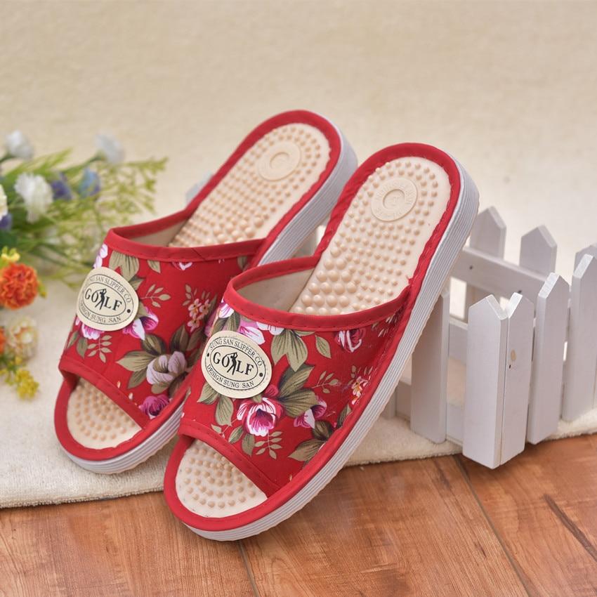 2018 Bárki gondozza az egészséget Slipper beltéri otthonban Akupresszúra Női alkalmi szandál Női lábmasszázs papucs