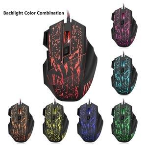 Image 4 - J60 Gaming Keyboard Mouse Combo Anti ghosting Adjustable DPI Colorful Backlit for Desktop Notebook Laptop PC Computer