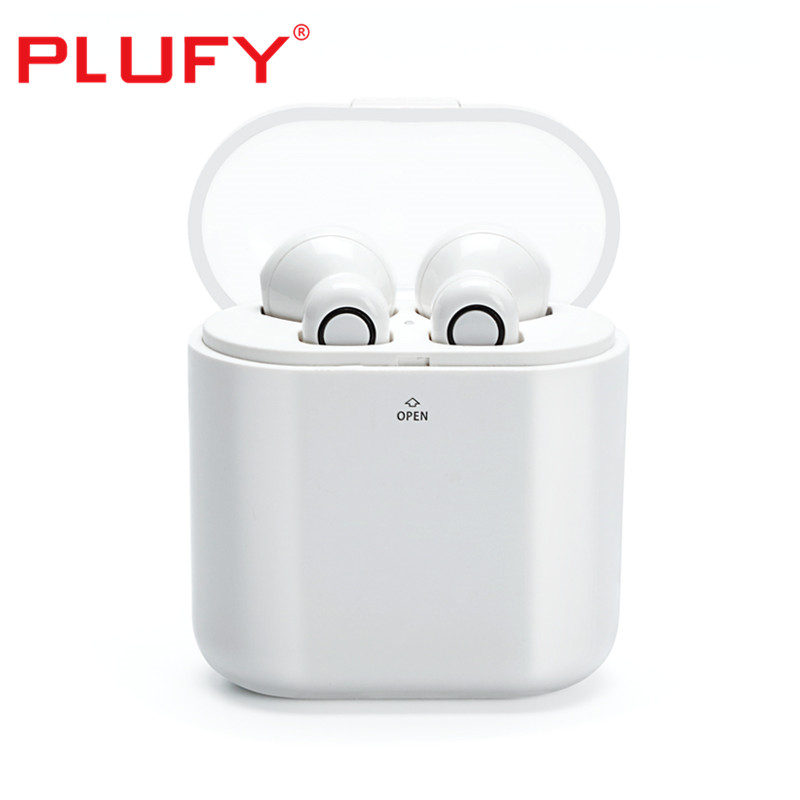 PLUFY new blutooth earphone music stereo headphone wireless IPX5 waterproof Earphones 30 days long standby TWS headset with mic