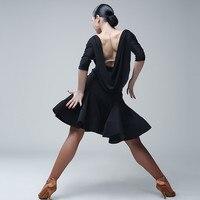 blacck latin dance wear ballroom tango dresses rumba dress latin ballroom dress salsa dance dresses modern dance costume samba