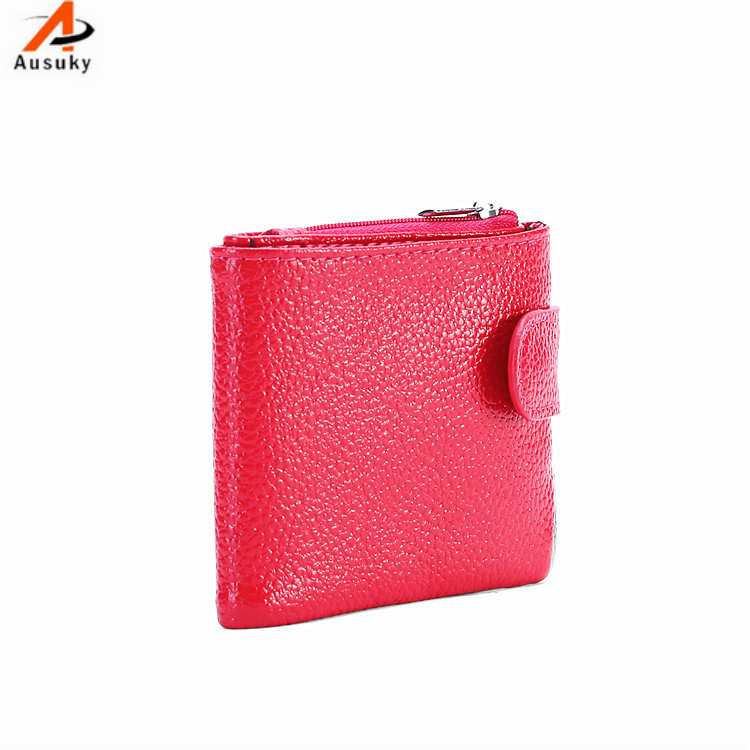 Genuine Leather 2 folder  Women Wallets Long PU Leather Wallet Female  Zipper Clutch Coin Purse organizer Ladies clip wallet 40 japanese anime attack on titan rivaille ackerman levi cosplay women long wallet pu leather women kawaii pink clutch coin purse