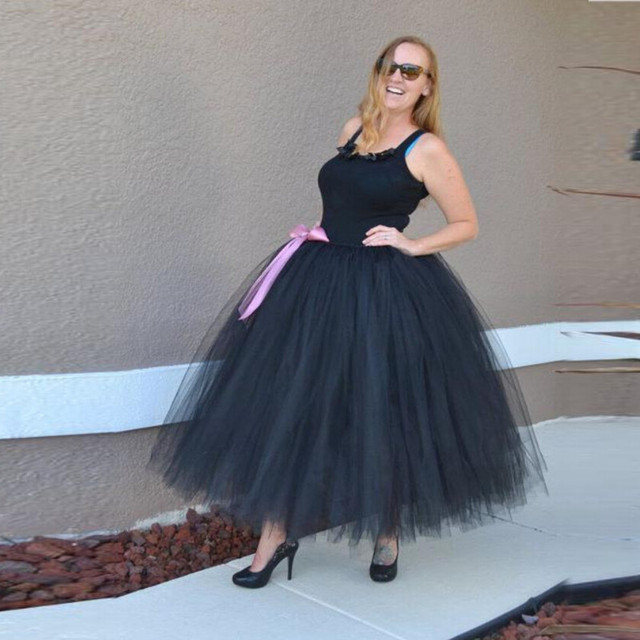 Super Puffy Tutu Skirt With Bow Floor Length Long Maxi Ball Gown ...
