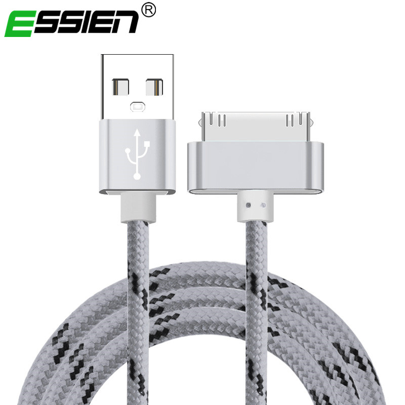 USB Cable Fast Charging for iphone 4 s 4s 3GS 3G iPad 1 2 3 iPod Nano itouch 30 Pin original Charger adapter Data Sync cord 1