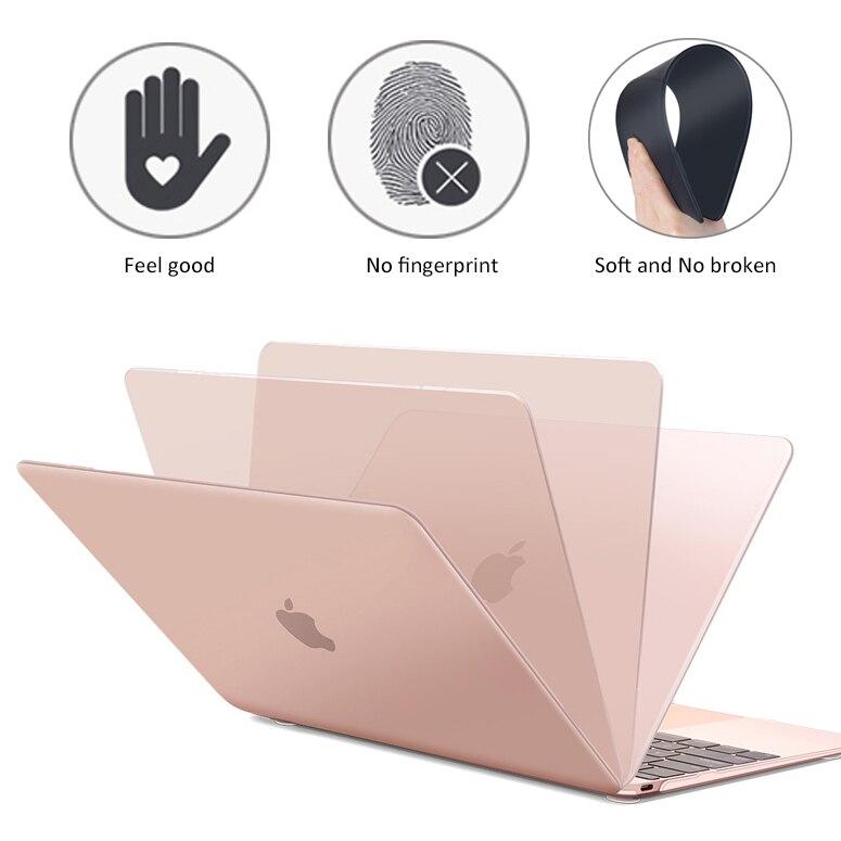 Mate mate completa portátil caso para MacBook Air 13 A1932 ID Pro Retina 11 12 15 Cover Touch Bar 2018 nuevo A1706 A1707 A1989 A1990
