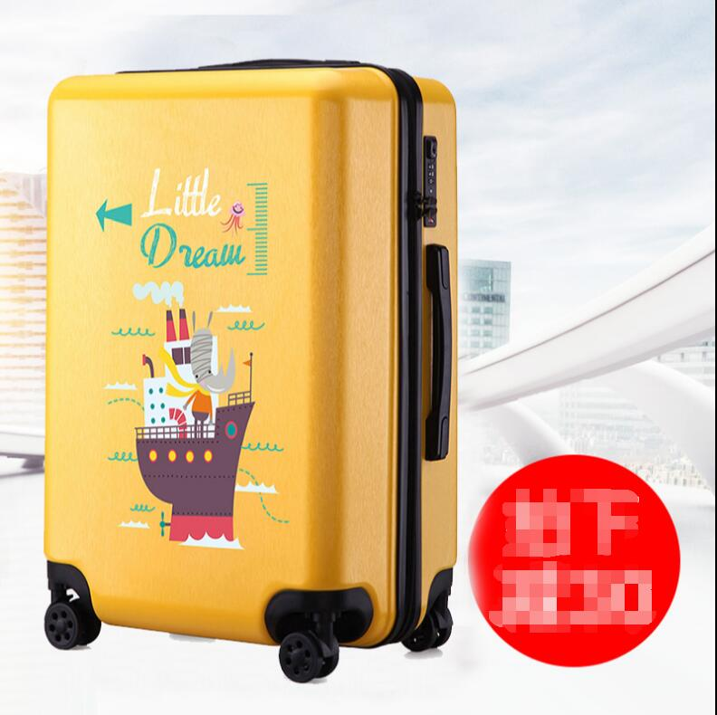 Cartoon suitcase, leather case, password bar box, female Korean Edition, personality, lovely girl student suitcase